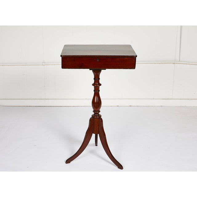 19th Century Georgian Mahogany Tripod-Base Sewing Table For Sale - Image 11 of 12