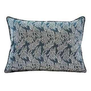 Tulu Textiles Balthazar Blue Pillow Cover For Sale