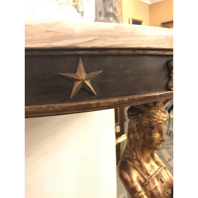 Late 19th Century Empire Style Demilune Console Tables - a Pair For Sale In New York - Image 6 of 11