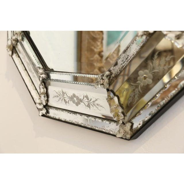 Octagonal Venetian Mirror For Sale - Image 9 of 12