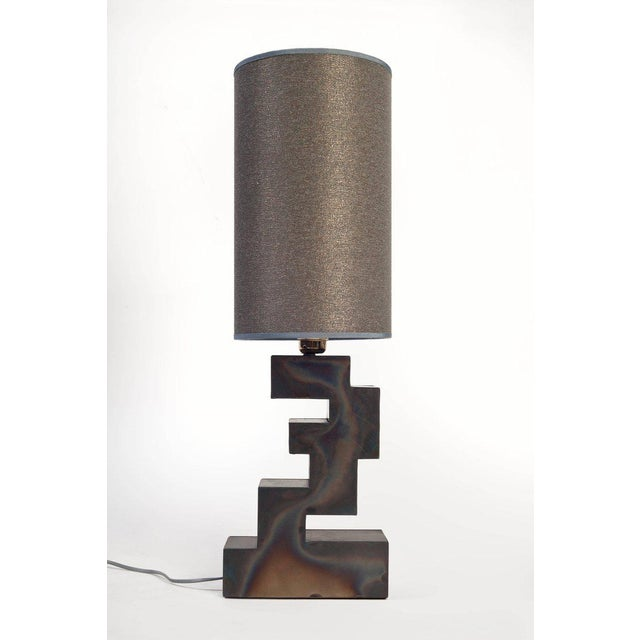 Harry Clark Pair of Stacks Table Lamp by Harry Clark For Sale - Image 4 of 4