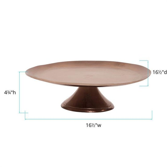 Kenneth Ludwig Chicago Kenneth Ludwig Bronze Aluminum Organic Round Footed Plate For Sale - Image 4 of 5