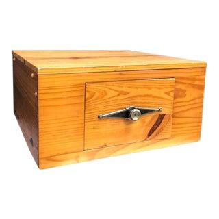1970s Vintage Wooden Desktop Drawer Cabinet For Sale