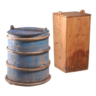 Pair of 19th century Folk art barrels from Sweden