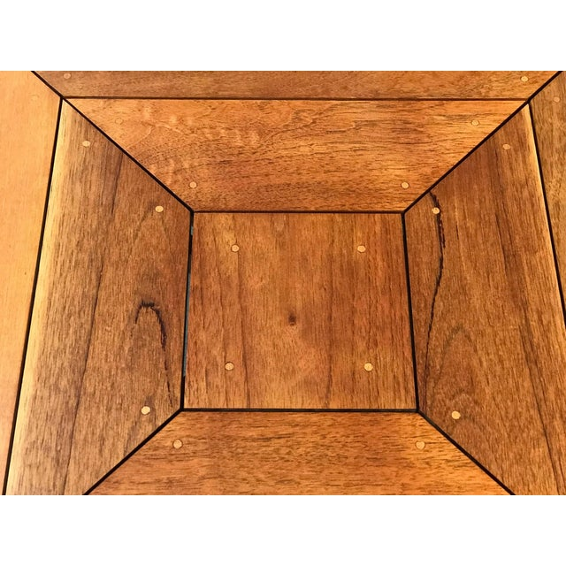 Rob Edley Welborn Prototype Square Coffee Table in Spanish Cedar For Sale - Image 4 of 11