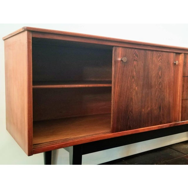 1960s 1960s Danish Modern Jentique Furniture Tola and Rosewood Credenza For Sale - Image 5 of 12