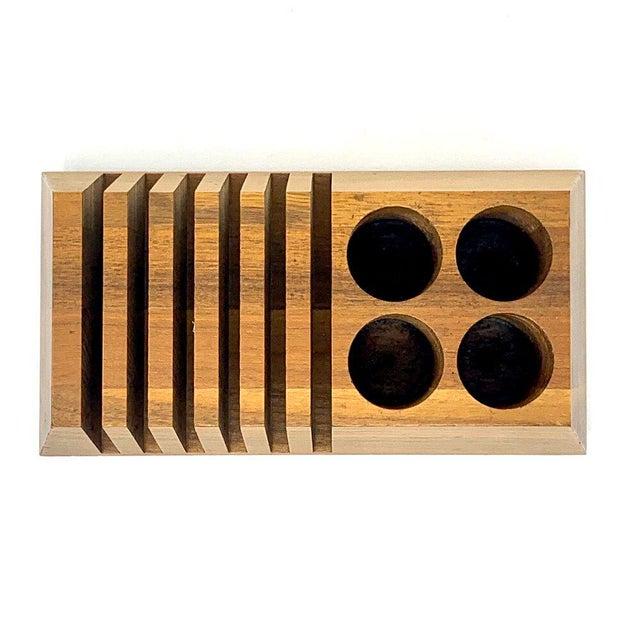 Mid 20th Century Mid-Century Modern Geometric Wooden Desk Organizer For Sale - Image 5 of 13