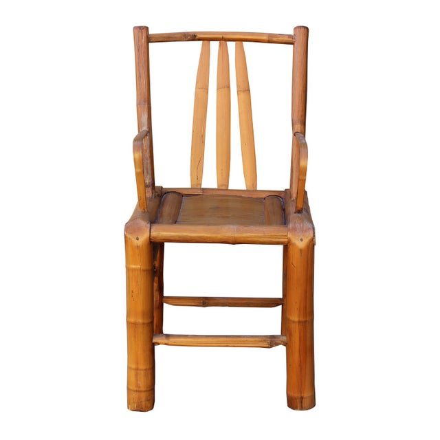 Chinese Zen Style Bamboo Reclining Arm Chair - Image 2 of 6