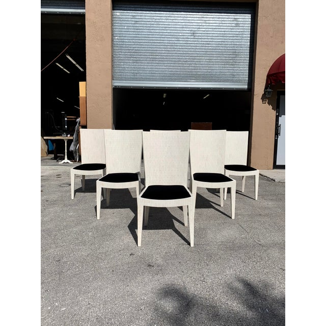 Enrique Garcel 1970s Enrique Garcel Tessellated Bone Dining Chairs - Set of 6 For Sale - Image 4 of 13