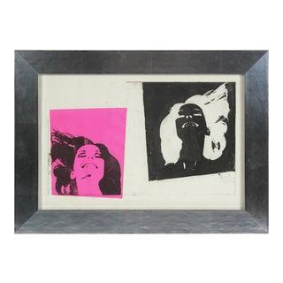 """Martin's Girl"" Pop Art Portrait Screen Print in Pink & Black, 1968"