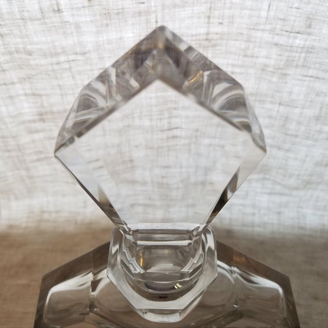 Vintage Geometric Crystal Decanter & Stopper - Image 4 of 8