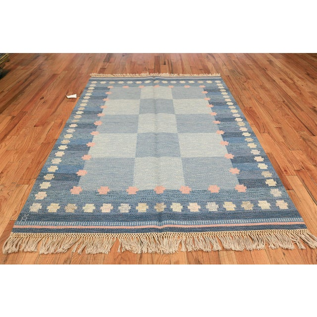 Vintage Swedish Kilim by Anna-Joanna Angstrom, Scandinavia, circa mid-20th century - Here is a lovely and impeccably...