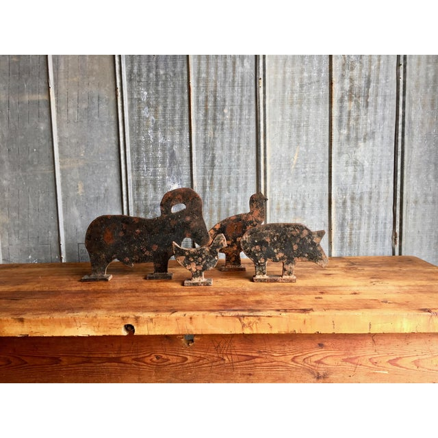 Early 1900s Cast Iron Carnival Shooting Targets. The original deal with original black paint, dents and divets. Pretty...