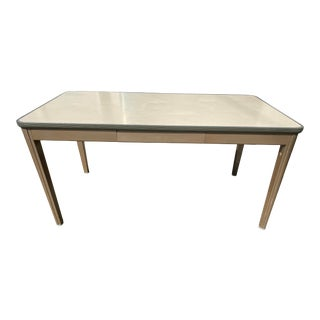 Vintage Allsteel Metal Writing Desk For Sale