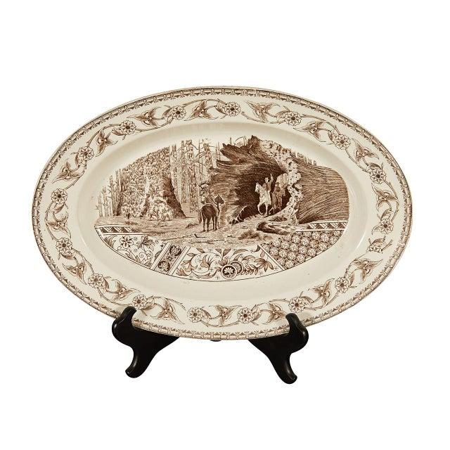 Wood Ironstone Platter of Yosemite For Sale - Image 7 of 7