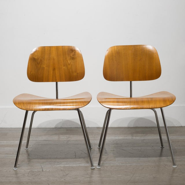 Metal Early Ray and Charles Eames for Herman Miller Dcm Chairs, Circa 1950- Price Is Per Chair For Sale - Image 7 of 13