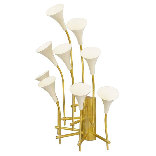 Italian Two Pairs of Trumpets Sconces by Fabio Ltd For Sale - Image 3 of 10
