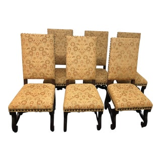 Spanish Revival Dining Room Chairs, Set of Six For Sale