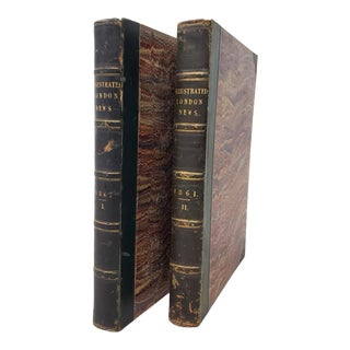 Two Volumes of the Illustrated London News 1861 and 1867 For Sale