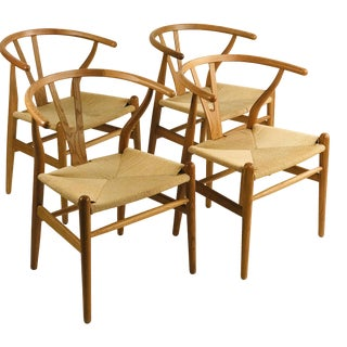 Wegner Wishbone Chairs - Set of 4