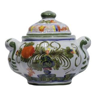 Blue Carnation Sugar Bowl For Sale
