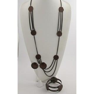 80s Vintage Monet Copper Parure Necklace, Bracelet, & Earrings Preview