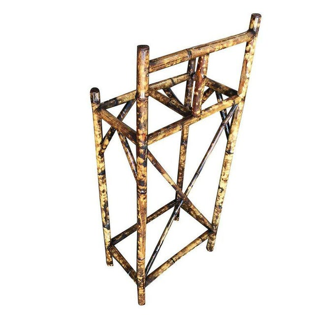 Restored Two Slot Antique Tiger Bamboo Umbrella Stand For Sale - Image 4 of 6