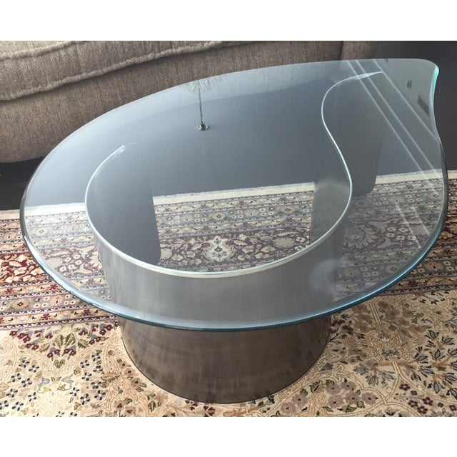 1960s Karl Springer Style Coffee Table For Sale - Image 5 of 5