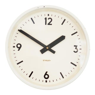 Industrial station clock by Schauer, 1964 For Sale
