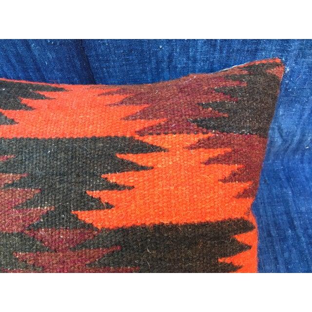 Boho Chic Pillow With Turkish Kilim Fragment - Image 3 of 5