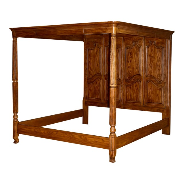 Vintage Drexel Heritage King Size Canopy Bed For Sale