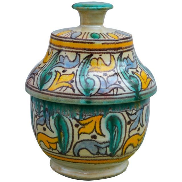 Antique Moorish Ceramic Box For Sale - Image 11 of 11
