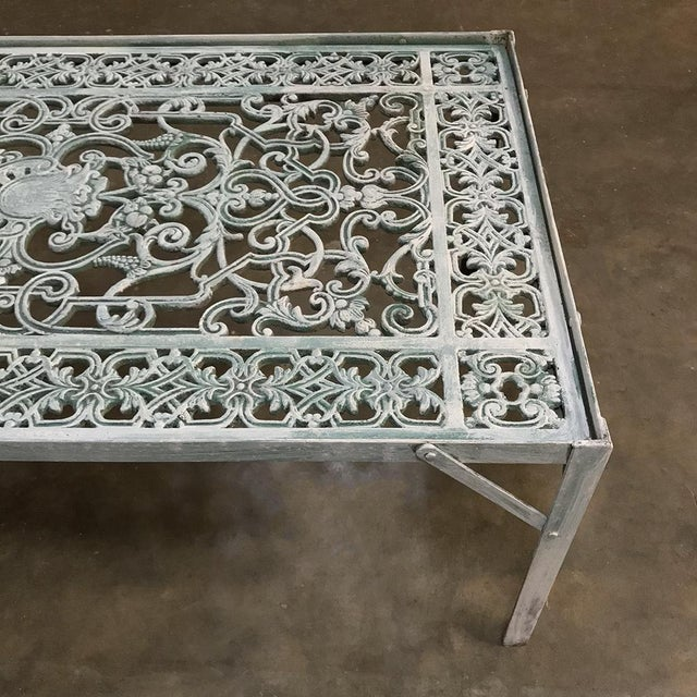 19th Century Iron Panel Coffee Table For Sale - Image 9 of 12