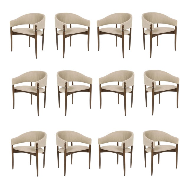 Set of 12 Enroth Dining Chairs For Sale