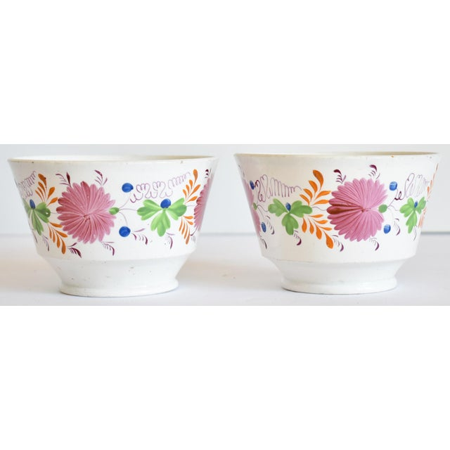 Antique C. 1810-1820 Pink Luster Staffordshire Creamware Tea Bowls - a Pair For Sale - Image 13 of 13