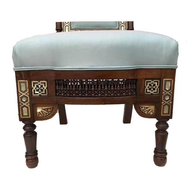 Museum Pieces 19th C Moorish Pair of Chairs For Sale - Image 11 of 12