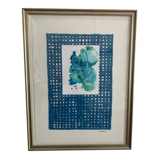 S Wheeler Original Framed With Paper and Watercolor For Sale