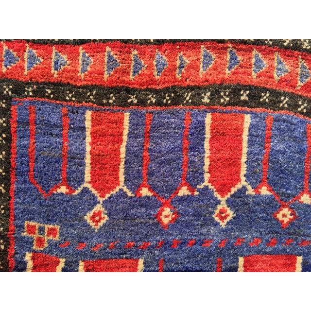 "Vintage Persian Mehebad Small Area Rug - 2'7""x4'3"" - Image 8 of 9"