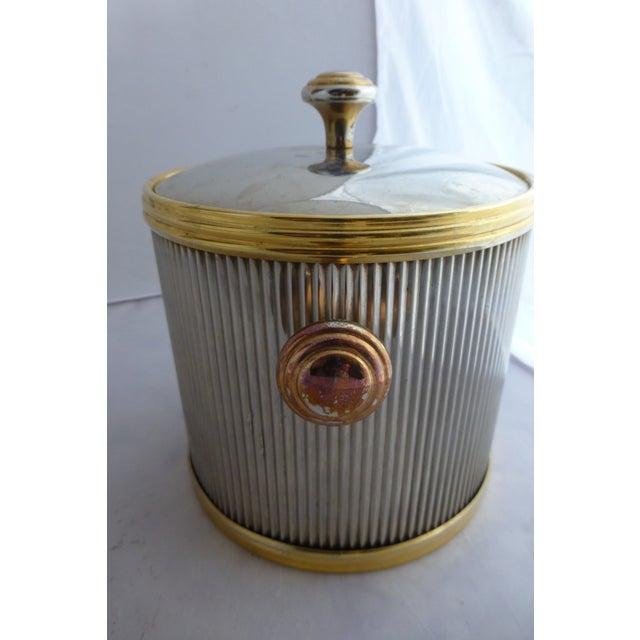Vintage Brass & Chrome Ice Bucket - Image 5 of 7