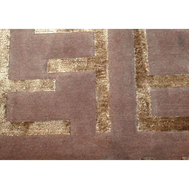 Indian Modern Silk Highlighted Rug- 3' x 5' - Image 3 of 9