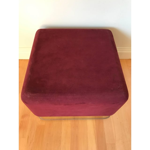 Pair of Milo Baughman Cube Footstools for Thayer Coggin For Sale In Miami - Image 6 of 8