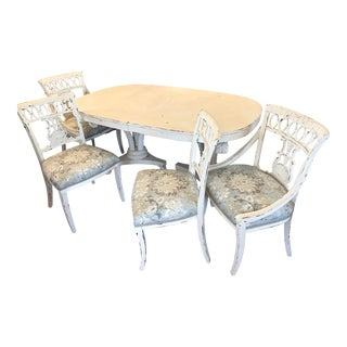 Double Pedestal Dining Set For Sale