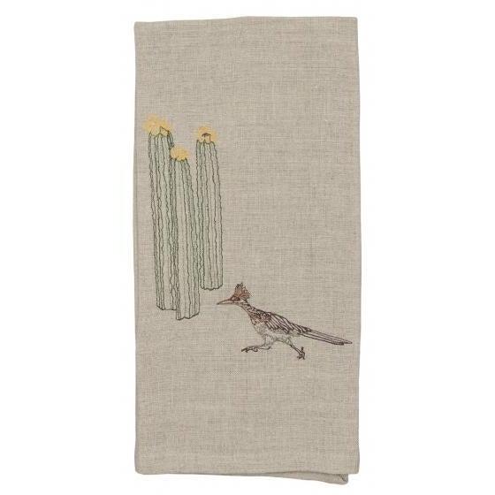 Roadrunner and Organ Pipe Cacti Tea Towel - Image 5 of 9