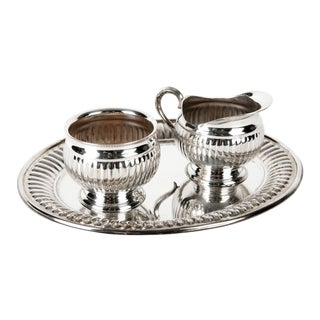 Silverplate Creamer and Sugar Set For Sale