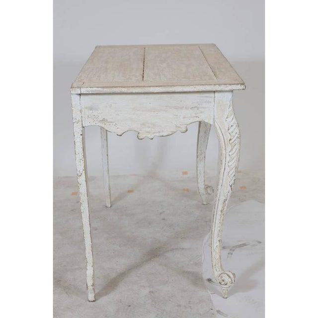 Gustavian (Swedish) Painted Gustavian Table With a Single Drawer For Sale - Image 3 of 9