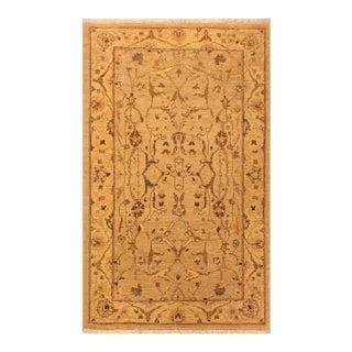 Kafkaz Peshawar Tiana Tan & Gold Wool Area Rug - 3'4 X 4'9