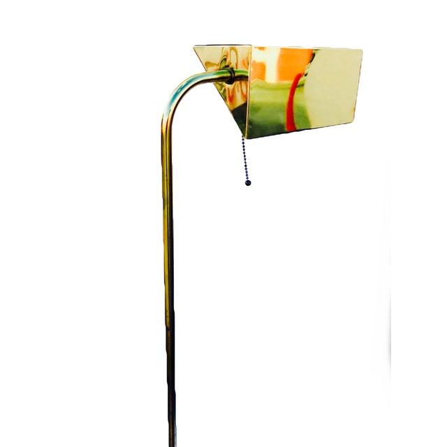 Walter Von Nessen Swing Arm Brass Floor Lamp - Image 3 of 5