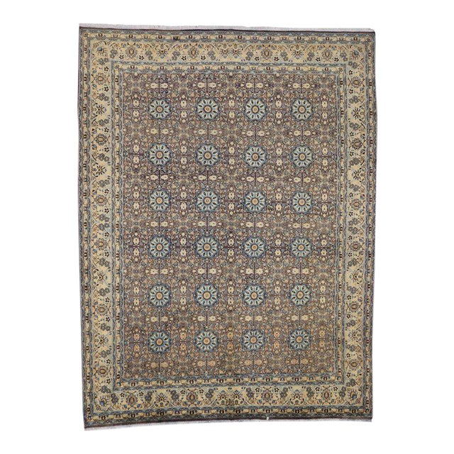 Vintage Persian Moud Mood Rug For Sale