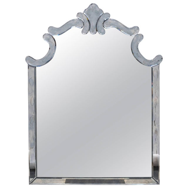 1940s Regency Style Mirror by Marchand For Sale