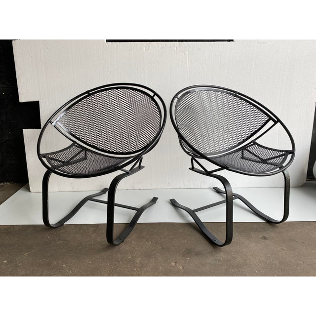 1950s Vintage Salterini Radar Bouncer Wrought Iron Chairs - a Pair For Sale - Image 9 of 9